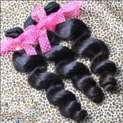 Brazilian Virgin Loose Wave Natural Human Hair 4 Bundles Mixed Lengths