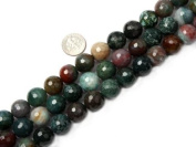 """Sweet & Happy Girl'S Store 14mm Round Faceted Indian Agate Beads Strand 15"""" Jewellery Making Beads"""