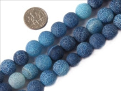 "Sweet & Happy Girl'S Store 12Mm Round Frost Gemstone Blue Agate Beads Strands 15""Jewellery Making Beads"