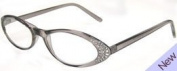ilovemyreadingglasses Fashion Reading Glasses - Rhinestone Retro Grey