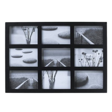 room essentials 9 opening collage frame black finish 4x6
