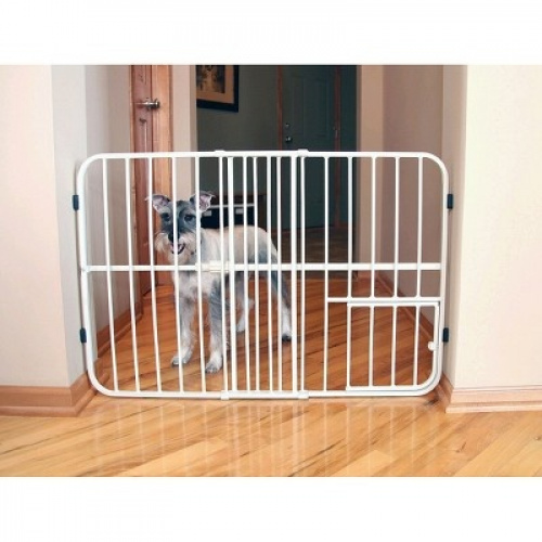 Carlson Tuffy Expandable Pet Gate Beige Medium
