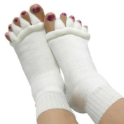 Comfy Toes Foot Alignment Socks Toe Spacer Relaxing Comfort --Tired Feet / Painful / Bunions / Cramps