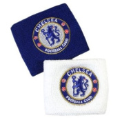 Official Chelsea FC Wristbands / Sweatbands (Pack Of Two) - A Great Christmas, Birthday, Valentine, Anniversary Gift For Husbands, Fathers, Sons, Boyfriends, Friends and Any Avid Chelsea Football Club Fan Supporter