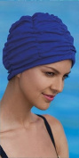 Ladies Swimming Hat Bathing Cap by Fashy Turban Style Blue