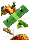 Super Vegetable & Fruit Slicer Twister Easy Garnish Veggie Processing Device Vegetable Shredder Grater - Green