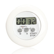 V1nf Round Magnetic Lcd Digital Kitchen Countdown Timer Alarm With Stand White