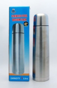 1L STAINLESS STEEL VACUUM THERMOS FLASK NEW AND BOXED