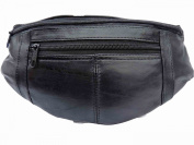 Leather Bumbag, Soft Leather Bum Bag, Up to 110cm waist 0412