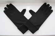 Mens Black SILK Thermal Liner Inner Gloves For Skiing, Motorbiking, Cycling