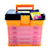 Fishing Tackle Box Art/Craft/Hobby/Tool Organiser Case