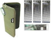 Carp Fishing Rig Wallet/Board And 20 Pins + 18 Hair Rigs + 4 Piece Needle Set