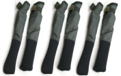 OAKWOOD TIP & BUTT PROTECTOR SLEEVES FOR CARP FISHING RODS X 3 PAIRS