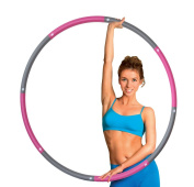 ResultSport® Level 1 Foam Padded Weighted 1.2kg (2.65lb) Fitness Exercise Hula Hoop 100cm wide