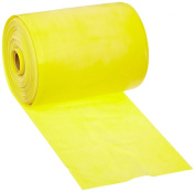 Cando 10-5221 Yellow Low Powder Latex Exercise Band, X-Light Resistance, 50 yd Length