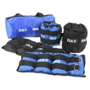 H & S® 1kg, 2kg, 3kg, 4kg, 5kg, 6kg, 8kg, 10kg, Wrist Ankle Weights Exercise Fitness Gym Resistance Stength Training Running