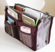 Salewine Handbag Insert Organiser Purse  Dual Storage Bag In Bag  Multi Pockets
