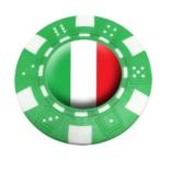 ITALY POKER CHIP GOLF BALL MARKER