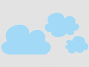 Wall tattoo sticker clouds - set of 3! --10-white