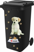 Wheelie Bin Self Adhesive Sticker Kit, Dog Design