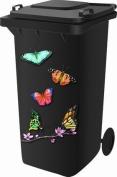 Wheelie Bin Self Adhesive Sticker Kit, Butterfly Design