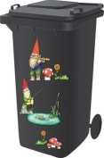 Wheelie Bin Self Adhesive Sticker Kit, Gnome Design
