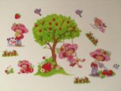 Strawberry Shortcake Wall Stickers - Kids / Childrens / Girls Bedroom / Baby / Nursery Decals Wall Art Decor Mural