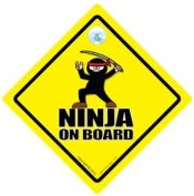 Ninja On Board Car Sign, Ninja On Board Sign, Ninja On Board, Baby on Board Sign, Baby On Board, Ninja, Baby on Board, Decal, Bumper Sticker, Martial Arts Sign, Black Belt Sign, Ninja Car Signs, Funny Car Sign, Joke Car Sign