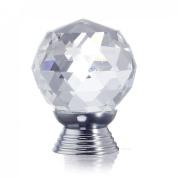 10X Crystal Glass Pull Handle Cabinet Drawer Door Kitchen Wardrobe Hardware Knobs 30mm