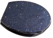Black Glitter Toilet Seats with round metal hinges