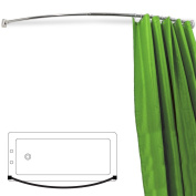 ARC - Curved Chrome Shower Curtain Rail - Silver