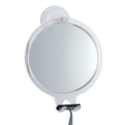 interDesign Makeup & Vanity Mirrors Power Lock Fog-Free Suction Mirror in Clear 52120CX