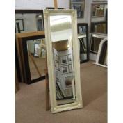 NEW LONG CREAM SHABBY CHIC STYLE SWEPT BEVELLED FULL LENGTH DRESSING MIRROR 46cm X 140cm