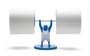 Mr T Designed Strong Man Weightlifter Bathroom Toilet Paper Tissue Roll Holder - blue