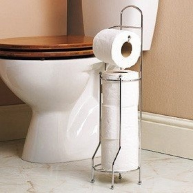 Free Standing Toilet Roll Holder For Easier Storage By