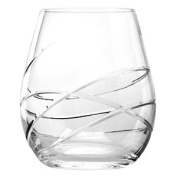 Waterford Crystal Ballet Ribbon Tumbler Glasses 18oz / 550ml Pack of 2 | 55cl Whiskey Tumblers, Old Fashioned Tumblers, Water Glass, Waterford Crystal Tumblers