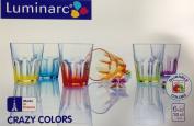 Luminarc Crazy Colours Tumbler / Glasses - 6 x 30cl