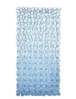 New Extra Long Blue 90 X 40Cm Pebbles Anti Bacterial Non Slip Bath Shower Mat
