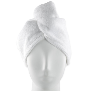 Evolatree - Microfiber Hair Wrap - Turbie Turban Towel - Twist Hair Towel - White