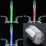 3 Colours RGB LED Light Water Stream Faucet Tap