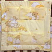 Nursery Baby Cot Tidy | Organiser for Cot | Cotbed | Cot Bed - LADDERS YELLOW