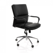 hjh office 600750 office chair black aspera 10 executive office nappa leather brown