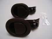 2 X BROWN PLASTIC REPLACEMENT HANDLES FOR RECLINER CHAIRS ARH7