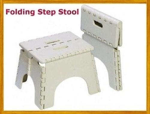 Brand New Large Plastic White Folding Step Stool Huge