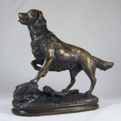 Cold Cast Bronze Standing Golden Retriever Dog Statue - A Perfect Gift Idea For A Special Person