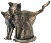 'Making Friends' Bronze Cat Sculpture Paul Jenkins - Frith