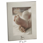 Bambino Baby Christening Gifts. Silverplated Photo Frame with Rocking Horse 13cm x18cm