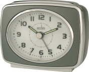 Acctim 13877 Retro 2 Alarm Clock, Titanium
