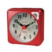Acctim Ingot Small Red Quartz Travel Time Alarm Clock - Light & Snooze