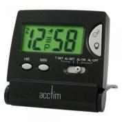 Np Mini Flip Lcd Black Alarm Clock